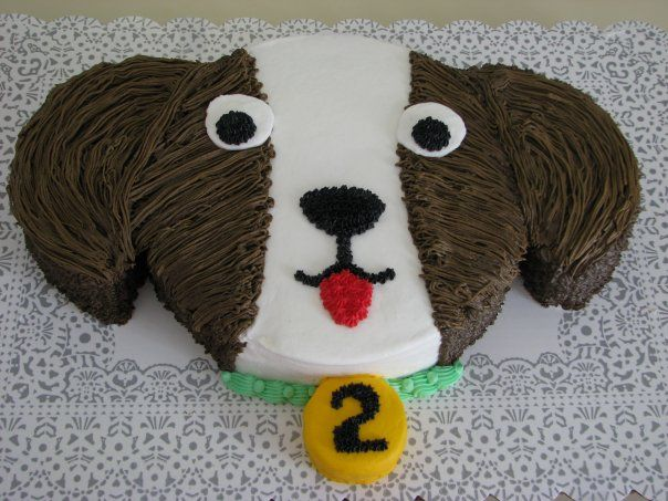Cute easy dog shaped cake Cakes Pinterest