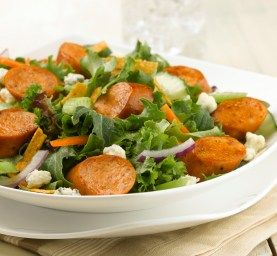 Buffalo Chicken Sausage Salad • using Thin 'n Trim Wildfire Buffalo ...