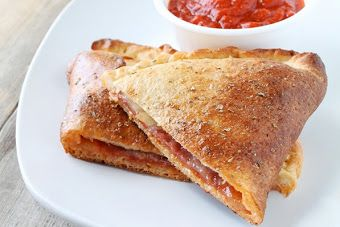 Salami and Mozzarella Calzones | Comfort at it's finest | Pinterest