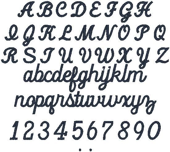 different styles of lettering
