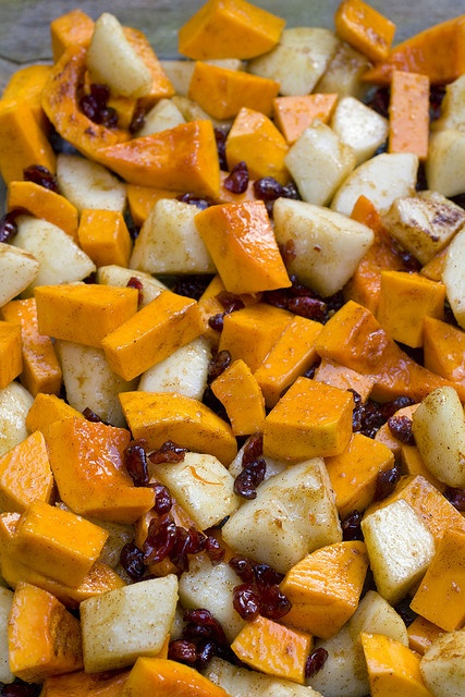 Roasted Butternut Squash, Pears, and Cranberries by FoodMayhem.com ...
