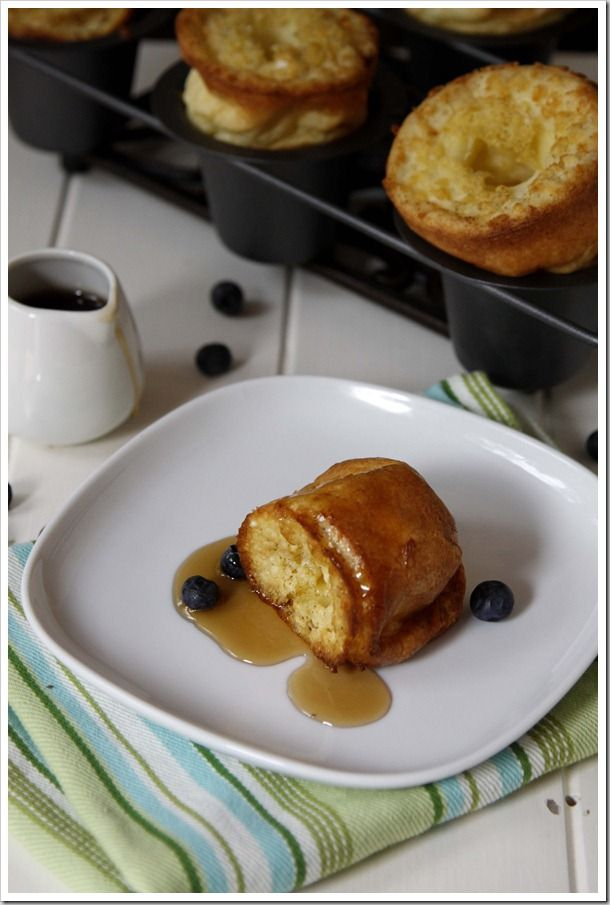 Sweet Cream Vanilla Popovers | EAT..... Breads - Popovers | Pinterest