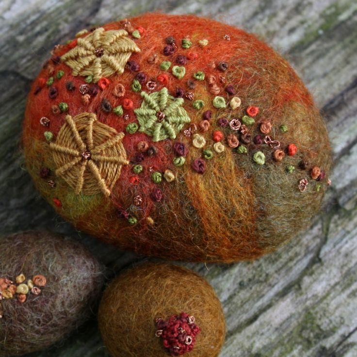Felted rock stoned pinterest for Felted wool boulders