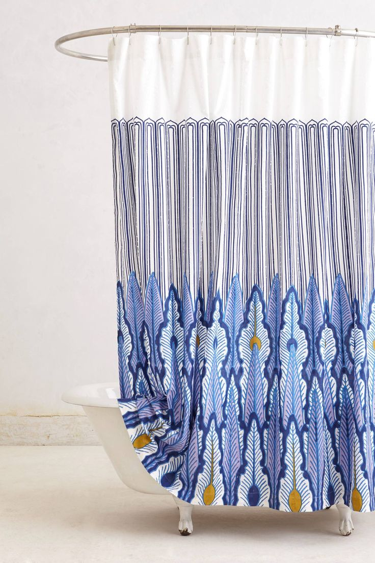Peacock Quills Shower Curtain - anthropologie.com