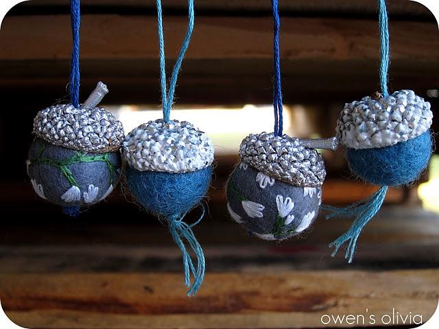 Felt Acorn balls.