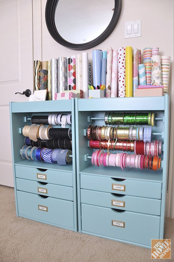 Organized Gift Wrapping Station Household Help Pinterest