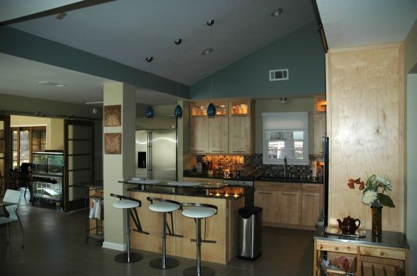 Pin by rheana rogers on home pretties pinterest for Split level kitchen remodel before and after