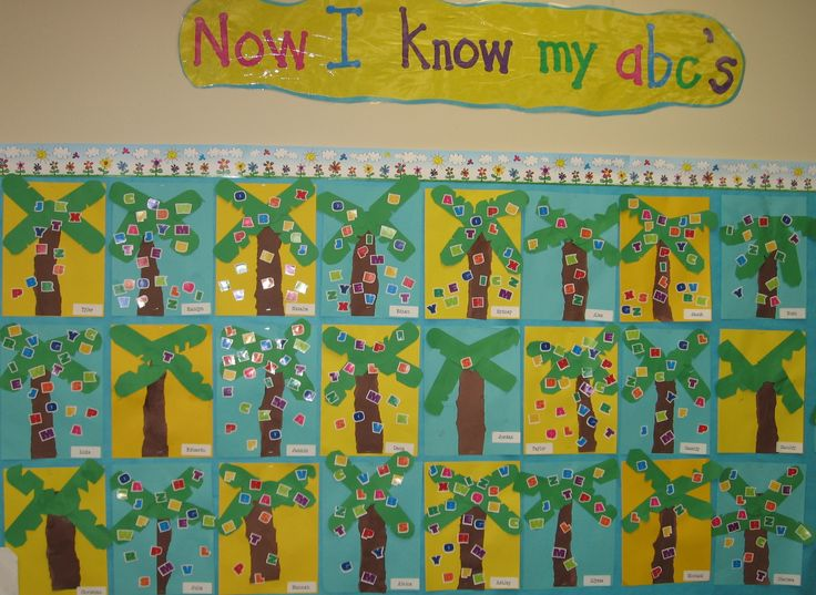 cute idea -- When we can recognize the letter and say it's sound we add that letter to our Chicka, Chicka tree.