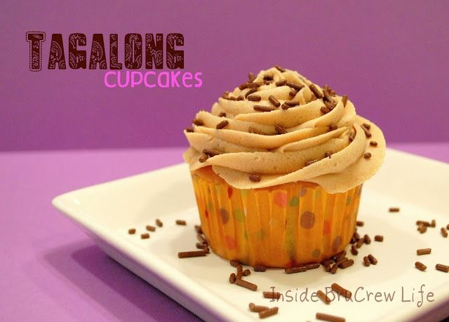 Tagalong Cookie Cupcakes - Inside BruCrew Life https://www.facebook ...