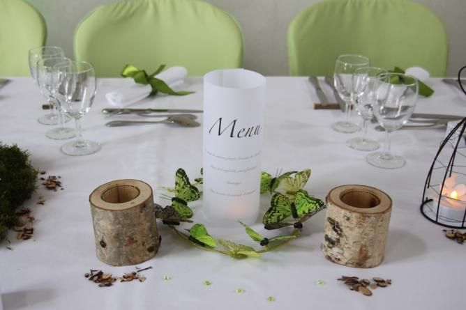 Deco de table nature mariage pinterest - Decoration tables mariage ...