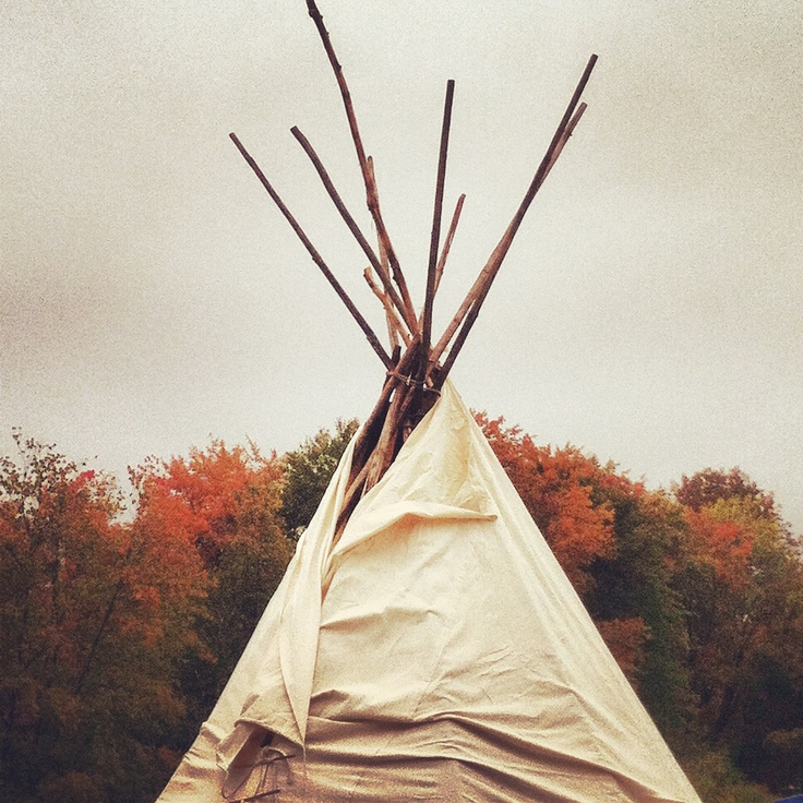 FREE SHIPPING Instagram Photo - 5 x 5 iphone - Teepee in Fall -  Wall Decor by BrookeRyanPhoto via Etsy. #fpoe