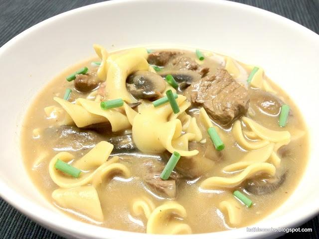 Kathie Cooks -- Beef Stroganoff Soup | Soups | Pinterest