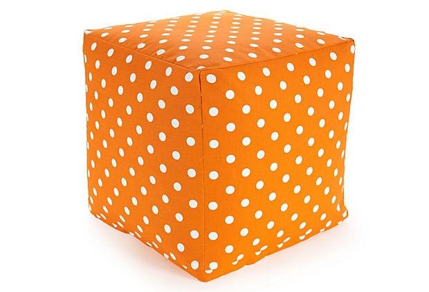 Beanbag Cube, Tangerine