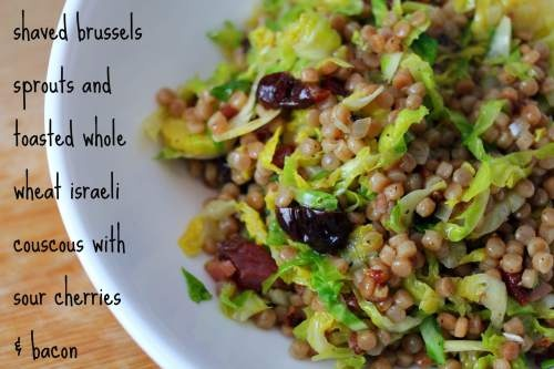 Shaved Brussels sprouts wit couscous | Ṽictuals♨ㄥahy-bey-shuh n ...