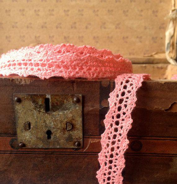 Crochet Ribbon : coral crochet ribbon by ShyMyrtle on Etsy, $1.75