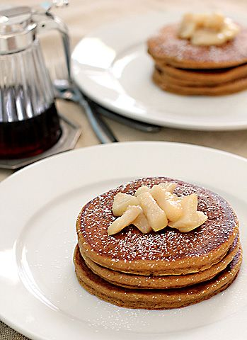 gingerbread pancakes, yummy! @Becky Porter you know you want to try ...