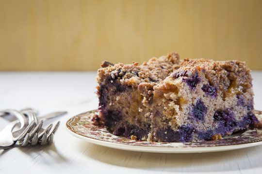 Peach and Blueberry Coffee Cake | Cakes and Coffee Cakes | Pinterest