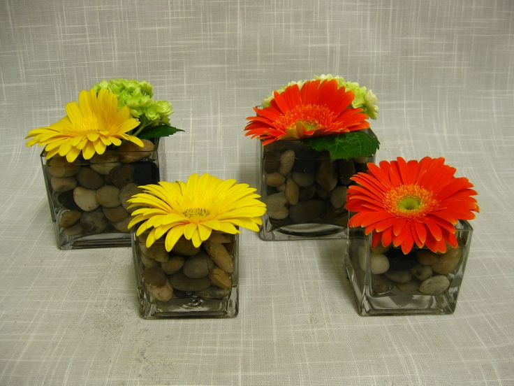 Wedding reception centerpieces with gerbera daisies : Gerbera daisy centerpieces centerpiece ideas