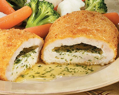 Chicken Kiev. One of my favorite meals!!
