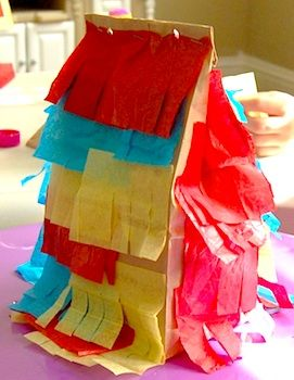 paper bag pinata - i used to make these for my daughter when she was little