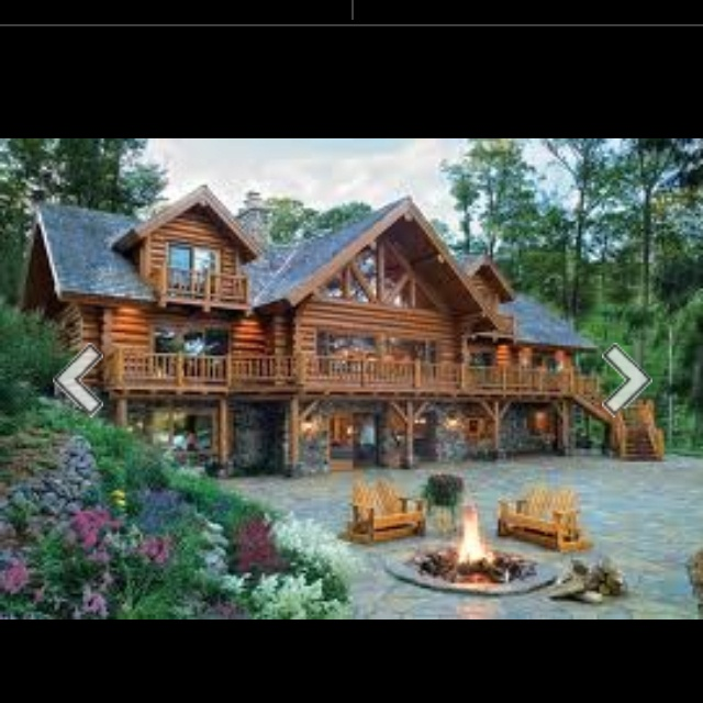 log cabin dream home dream homes pinterest