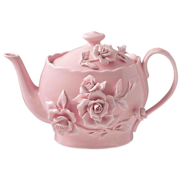 Rambling Rose Teapot Pink from Domayne