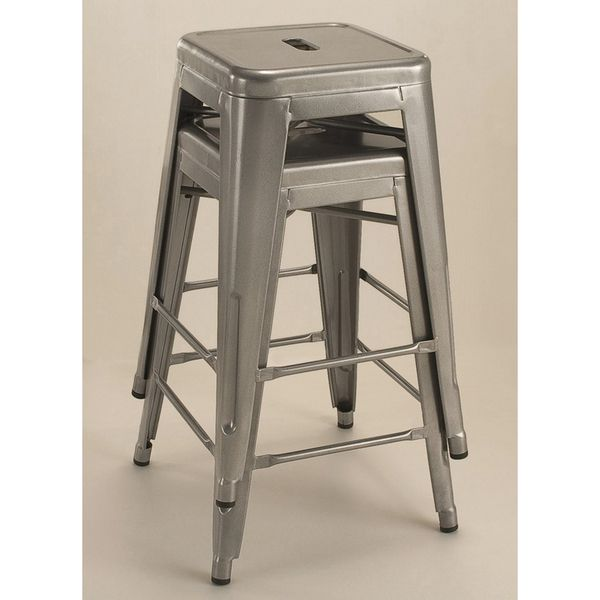 Tabouret 24 Inch Metal Counter Stools Set Of 2