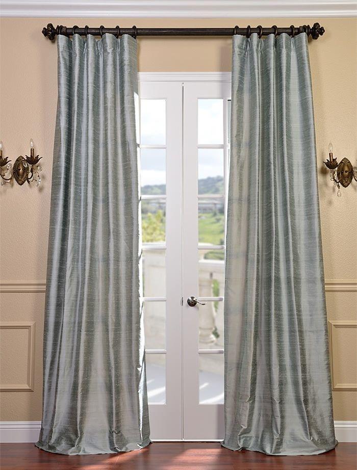 shoreline textured dupioni silk curtain dining room