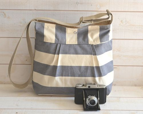 Another lovely striped bag from IKABAGS.