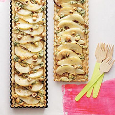 Hazelnut, Pear, and Blue Cheese Tart | Yummy! | Pinterest