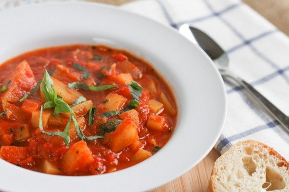 Italian Vegetable Stew | foodnfocus.com - eggplant,potato, tomato and ...