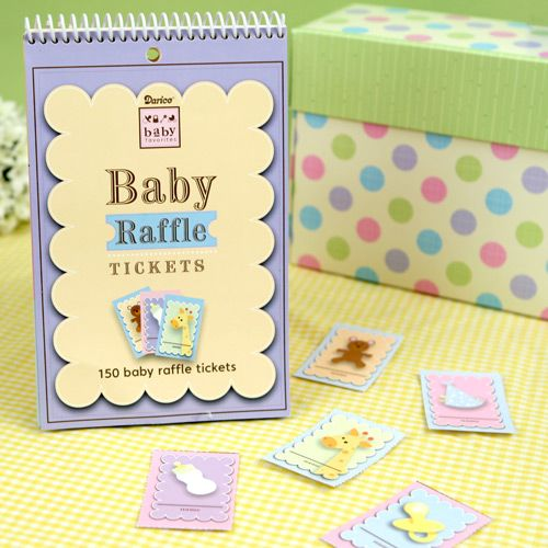 baby raffle tickets baby shower game