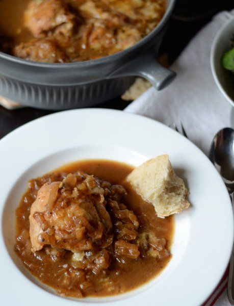 Dinner Recipe: Braised French Onion Chicken with Gruyère