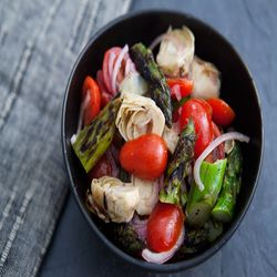 Asparagus Artichoke Salad | Vegetarian Goodness | Pinterest