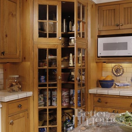 Corner pantry quot love glass window on pantry door and the wood detail quot
