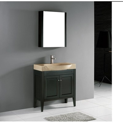 Popular Home  Bathroom  36quot Narrow Depth Thayer Bamboo Vanity For Undermount