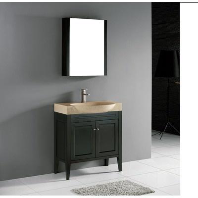 Popular Home  Bathroom  36quot Narrow Depth Thayer Bamboo Vanity For Undermount