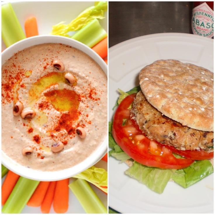 ... Black Eyed Pea Hummus or Hoppin' John Burgers. #newyear #vegetarian