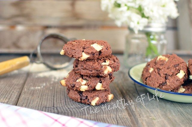 Double Chocolate White Chocolate Cookies   Paleo Solution 30 Day Chal ...