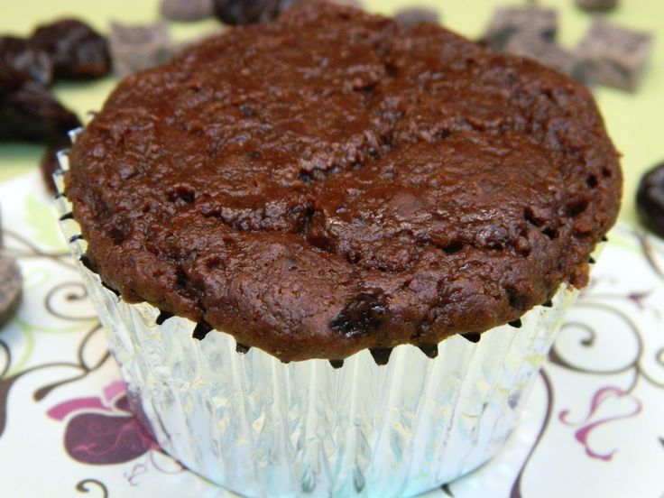 Vegan Double Chocolate Cherry Muffins. Don't let the vegan thing throw ...