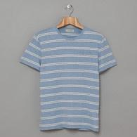 blue stripes and pocket