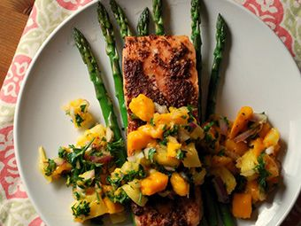 salmon with mango salsa | Jerk Salmon with Mango-Pineapple Salsa ...