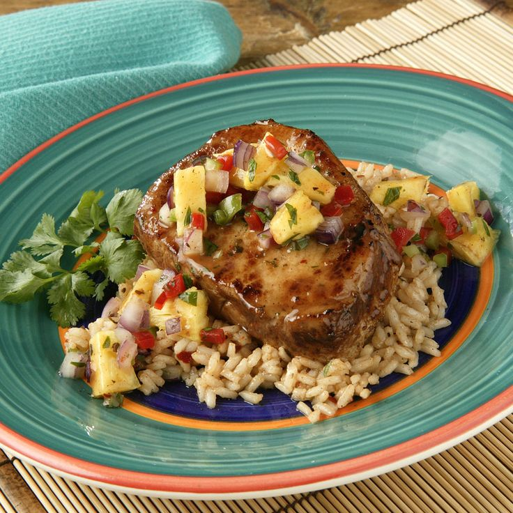 jerk pork slow cooked jerk pork with caribbean salsa best pork chops ...
