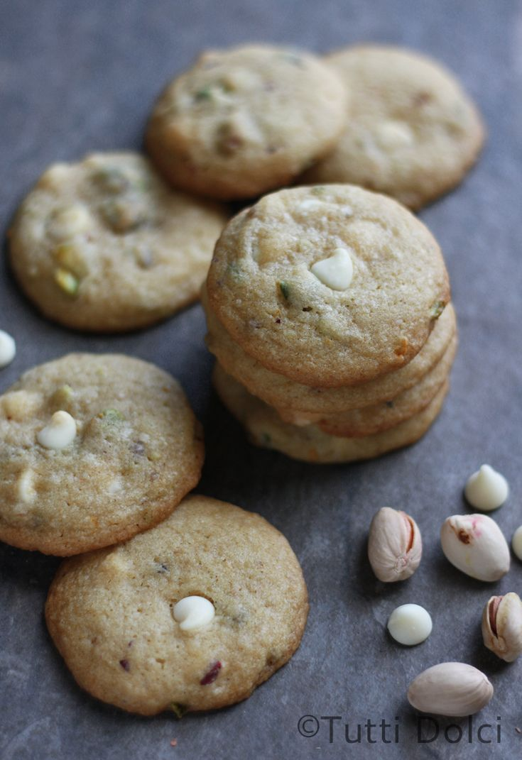 Lemon, Pistachio, & White Chocolate Cookies. Made with flour, baking ...