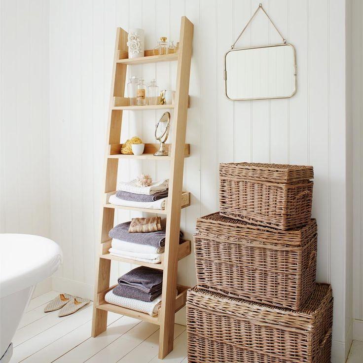 ladder shelf storage ideas decor pinterest
