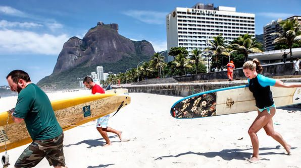 Rio de Janerio- grab your surfboards and head for the waves in Sao Conrado!