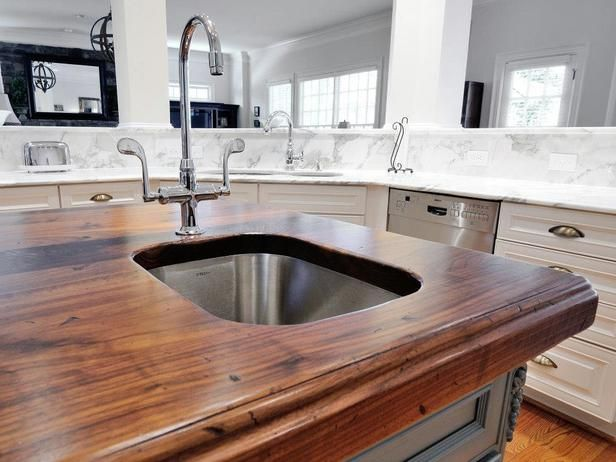 kitchen countertops colors and materials on hgtv