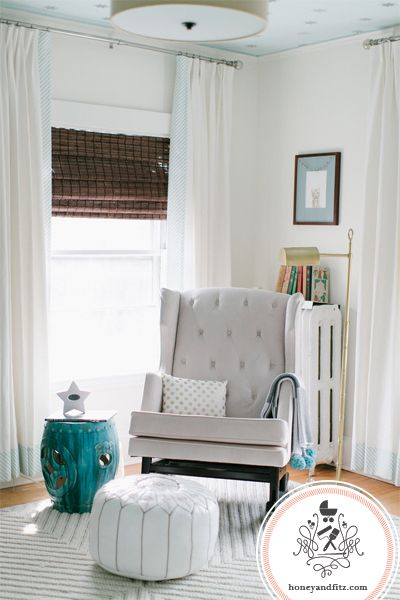 Gender Neutral Nursery with modern glider