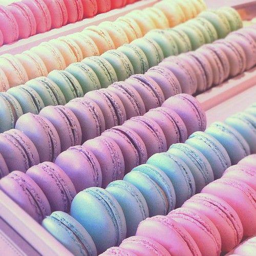 pastel macarons | Cookies & Macarons | Pinterest