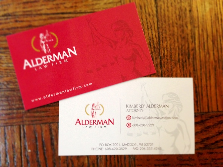 we did not want the traditional law firm logo business card we